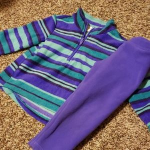 3/$12 purple and teal sweatsuit